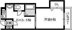 大阪府豊中市服部西町2丁目の賃貸マンションの間取り
