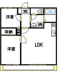 エクセルV[1階]の間取り