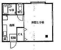 松三荘[201号室号室]の間取り