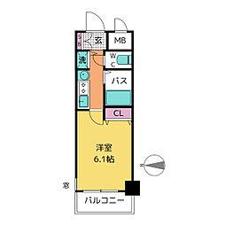 プレサンス泉セレグレード[8階]の間取り