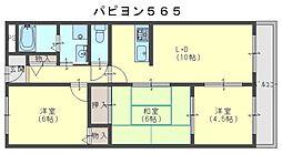 パピヨン565[2階]の間取り