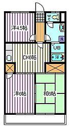 埼玉県さいたま市南区辻5丁目の賃貸アパートの間取り