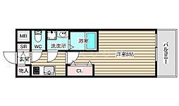 レジデンス大阪福島フォルテ 10階1Kの間取り