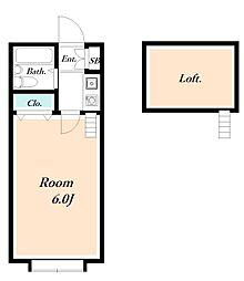 ローズガーデンR50番館[1階]の間取り