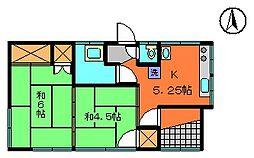 [一戸建] 茨城県古河市横山町2丁目 の賃貸【/】の間取り