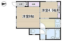 渡辺荘[101号室]の間取り