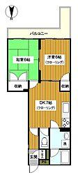 神奈川県横浜市西区元久保町の賃貸マンションの間取り