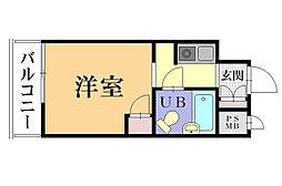 神奈川県横須賀市上町1丁目の賃貸マンションの間取り