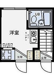 東京都世田谷区宮坂1丁目の賃貸アパートの間取り