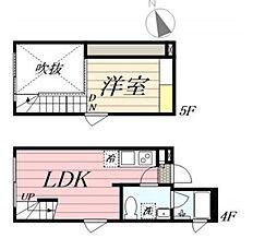 PASEO新宿3丁目II 4階1DKの間取り