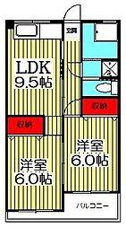 北松戸田村ビル[4階]の間取り