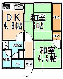 兵庫県伊丹市北野6丁目の賃貸アパートの間取り
