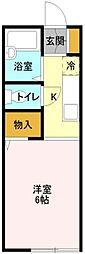 埼玉県吉川市高久2丁目の賃貸アパートの間取り