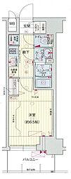 阪急神戸本線 中津駅 徒歩6分の賃貸マンション 2階1Kの間取り