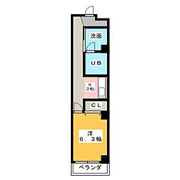 メゾンゆりの木[2階]の間取り