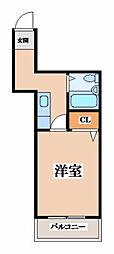 大阪府東大阪市瓜生堂2丁目の賃貸マンションの間取り