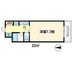 ロイヤルレジデンス岡崎[1階]の間取り