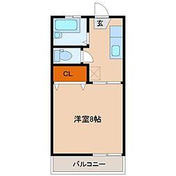 エスポワール加納[105号室号室]の間取り
