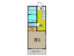 ハイツ川島[2階]の間取り