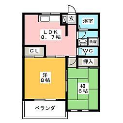 ドエルマルシェE[2階]の間取り