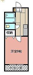 ボヌール相島[202号室]の間取り