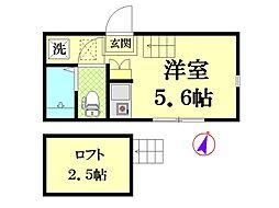 カーサESI[1階]の間取り