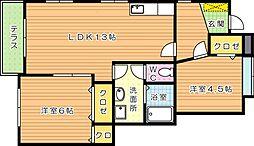 グランドステージI[1階]の間取り
