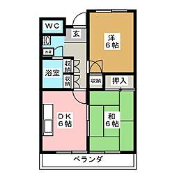 メゾンブランシュ1号館[1階]の間取り