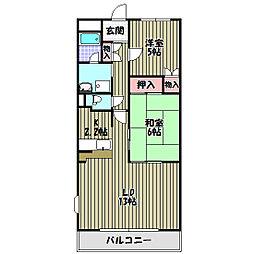 シンフォニーレジデンス藤沢台[2階]の間取り