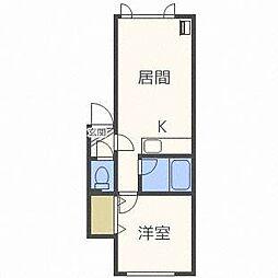 フォレスト栄弐番館[1階]の間取り