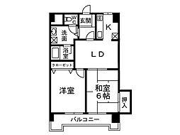 ベイサイド小戸[2階]の間取り