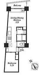 レジディア目黒III[10階]の間取り