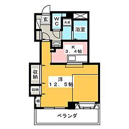 ホワイトクラウドIV[3階]の間取り
