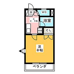 メゾンプルミエ[1階]の間取り