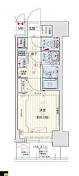 ララプレイス大阪新町ヴェレ 3階1Kの間取り