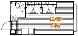 東京都練馬区旭町3丁目の賃貸アパートの間取り