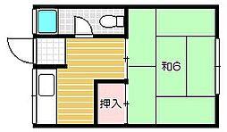 奥田コーポ[2階]の間取り