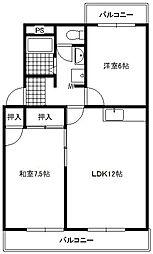 カーサカジマII[3階]の間取り