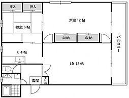 エクセレント駒川[3階]の間取り