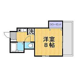 大阪府茨木市宿久庄3丁目の賃貸マンションの間取り