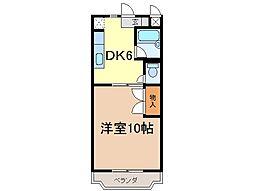静岡県富士市森下の賃貸マンションの間取り