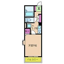 アライブ滝本[1階]の間取り