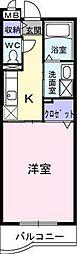 ランデュール岩崎[105号室]の間取り