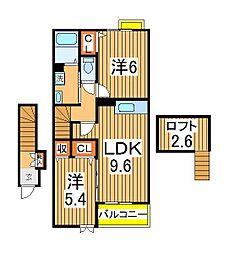 ラフィナート2[2階]の間取り