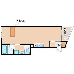 兵庫県尼崎市武庫之荘東2丁目の賃貸アパートの間取り
