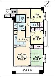 レクセル新浦安 3階3LDKの間取り