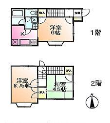 [テラスハウス] 東京都町田市金井5丁目 の賃貸【/】の間取り
