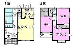 [テラスハウス] 愛媛県松山市祝谷2丁目 の賃貸【/】の間取り