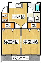 藤井マンション[5階]の間取り
