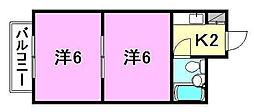 星ケ岡マンション[309 号室号室]の間取り